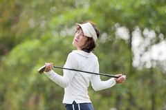 Golf Player Woman Royalty Free Stock Photos