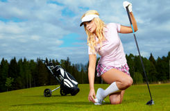 Golf player woman Royalty Free Stock Image