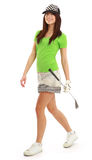 Golf Player Woman. Stock Photography