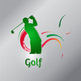 Golf players club, golf tournament and championship logo Royalty Free Stock Image