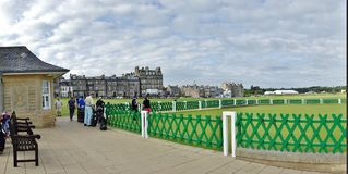 Golf Players, St. Andrews Golf Course, Scotland. Royalty Free Stock Image
