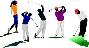 Golf players. Vector illustration Royalty Free Stock Photography