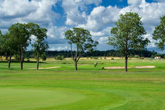 Golf playground. Swedish country side golf landscape Stock Photos