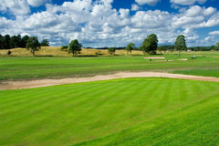Golf playground. Swedish country side golf landscape Royalty Free Stock Image