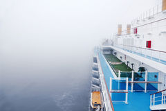 Golf playground on deck of cruise ship Stock Photos
