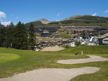 Golf playground in mountain Stock Images