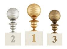 Golf podium Stock Photography