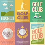 Golf Poster Set vector illustration