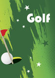 Golf poster with stars Stock Photos