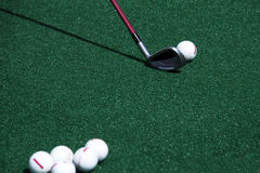Golf practice Stock Images