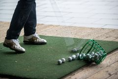 Golf - practice area Stock Image