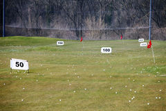 Golf practice course Royalty Free Stock Image