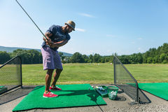 Golf Practice at the Driving Range Stock Image
