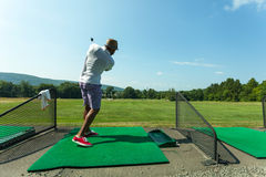 Golf Practice at the Driving Range Royalty Free Stock Photos