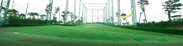 Golf practice field Royalty Free Stock Photography