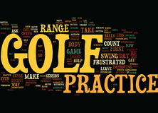 Golf Practice Isn T Important If Word Cloud Concept Stock Photography