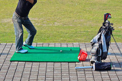 Golf practice Stock Image