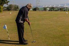 Golf Range Player Putting Royalty Free Stock Images