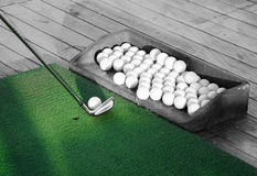 Golf practice Stock Image