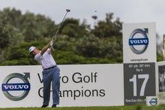 Golf Pro Ernie Els Tee Shot. Ernie Els driving ball shot Stock Photos