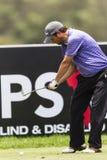 Golf Pro Focus Iron Swing Stock Images