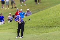 Golf Pro Goosen belägger med metall trä Royaltyfria Foton