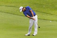 Golf Pro Manessero Swing Stock Photo