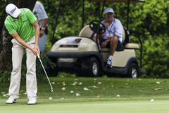 Golf Pro Tournament Putting Royalty Free Stock Photography