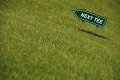Golf - prochain té photos stock