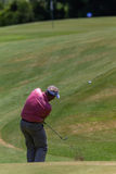 Golf Professional Colin Montgomerie Swinging Royalty Free Stock Image