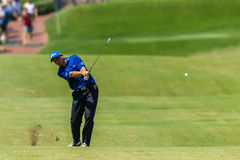 Golf Professional David Howell Swinging Royalty Free Stock Images