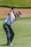 Golf Professional David Lynn Swinging Stock Photos