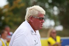 Golf professional John Daly with sunglasses. stock images