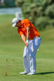 Golf Professional Julien Quesne Swinging Royalty Free Stock Image