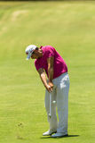 Golf Professional Julien Quesne Swinging Royalty Free Stock Photos