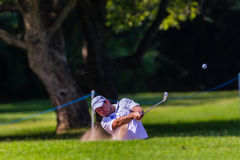 Golf Professional Richard Sterne Swinging Stock Photography