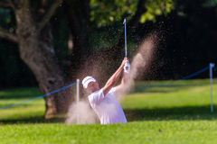 Golf Professional Richard Sterne Swinging Royalty Free Stock Image