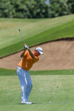 Golf Professional Robert Karlson Swinging Stock Images