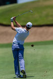 Golf Professional Tommy Fleetwood Swinging Stock Image
