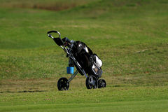Golf pull cart royalty free stock photography