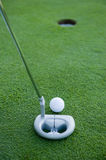 Golf Putt Stock Images