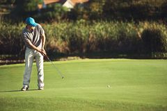 Golf putt green Stock Photography