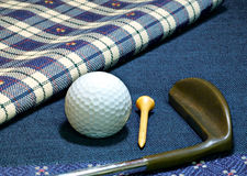 Golf putter. An old fashioned golf putter Stock Photography