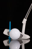 Golf putter and gold equipments Stock Image