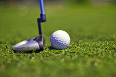 Golf putter play Royalty Free Stock Photos