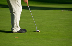 Golf putting. Golf course in Adare - final putting Stock Image