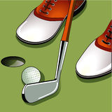 Golf putting Stock Photos