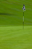 Golf putting green Stock Image