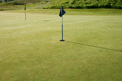 Golf Putting Green Stock Photo