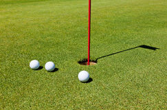Golf: putting green Royalty Free Stock Photos